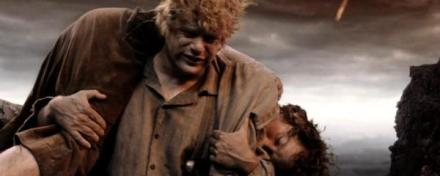 Sam cares for Frodo